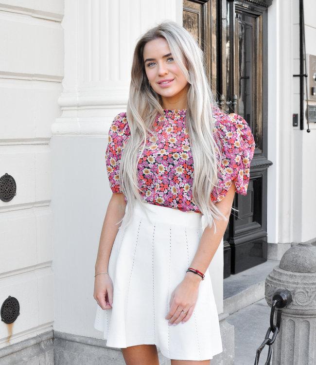 Sanne skirt white