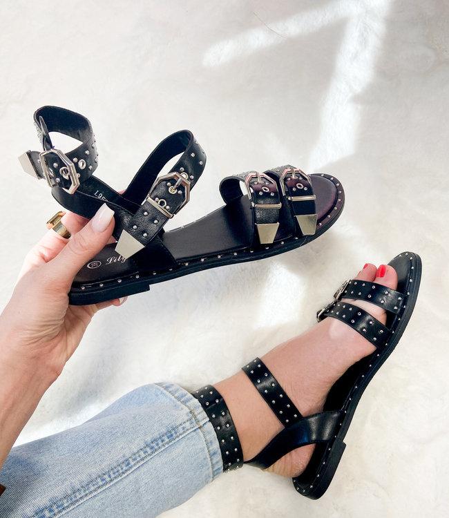 Juul sandals black