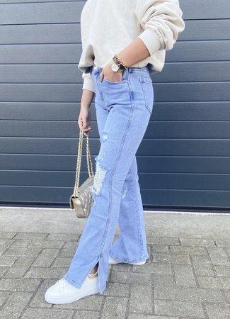 QH Flared split jeans