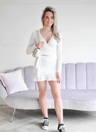 Pip skirt white