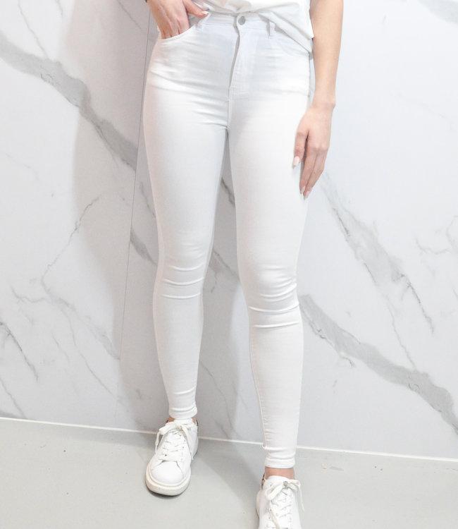 Naomie jeans white