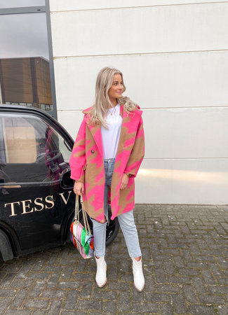 Isabelle coat pink