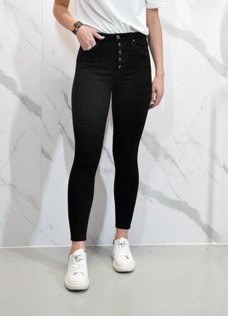 Button jeans black