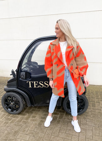 Isabelle coat orange