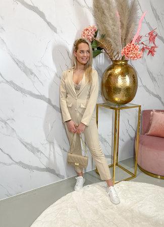 Pia suit beige