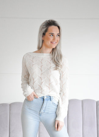 Hailey knit white