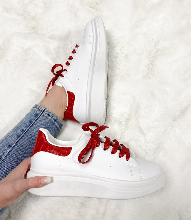 Alexie sneakers red croco