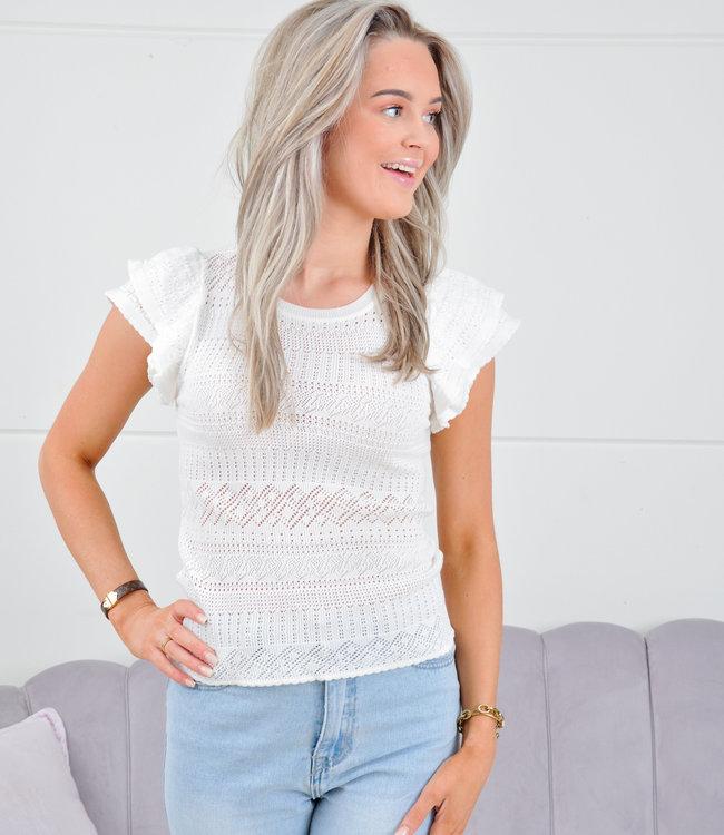 Rachel top white