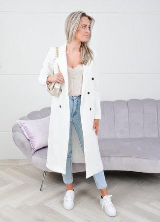 Daisy long coat white