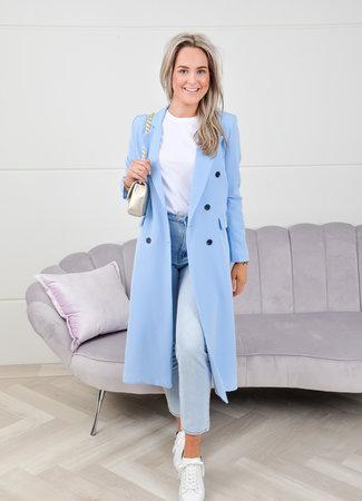 Daisy long coat blue