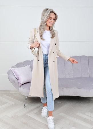 Daisy long coat beige