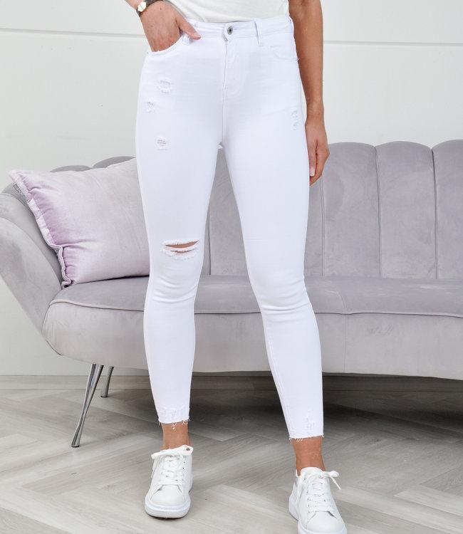 QH Mazz jeans white