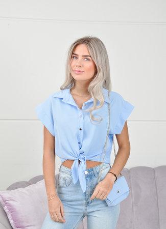 Anne top blue
