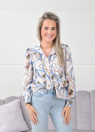 Noa blouse blue