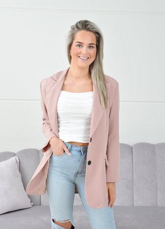 Oversized blazer baby pink
