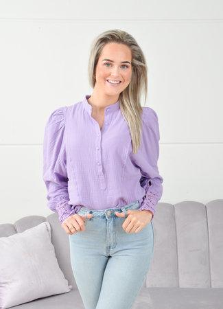 Laura blouse purple