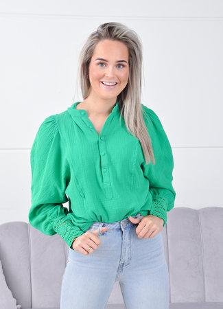 Laura blouse green