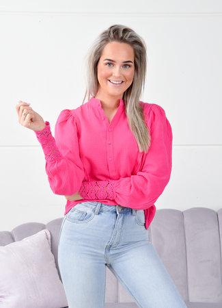 Laura blouse fuchsia