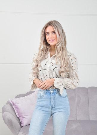 Gigi blouse beige