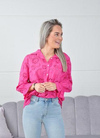 Gigi blouse fuschsia