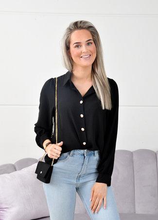 Lion blouse black