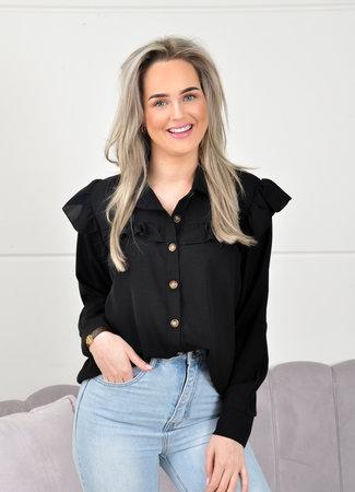 Louisa blouse black