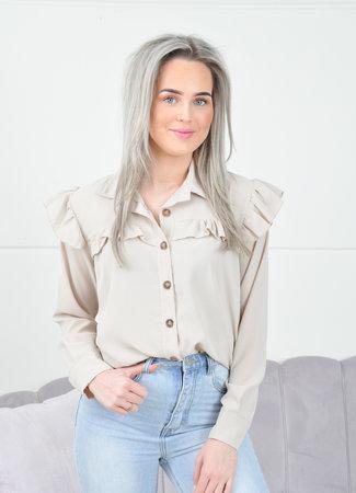 Louisa blouse beige