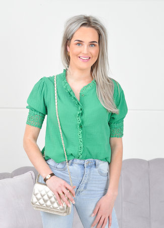 Xena top green