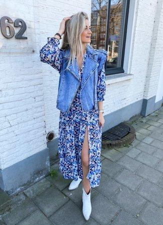 Nelise maxi dress blue