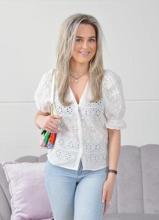 Elie blouse white
