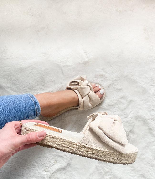 Fenna slides beige