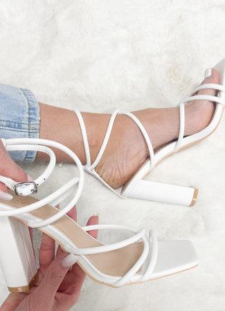 Josefien heels white