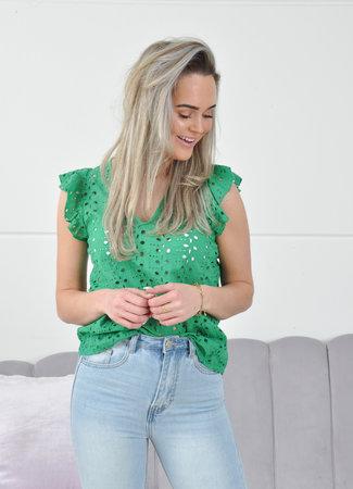 Bella top green