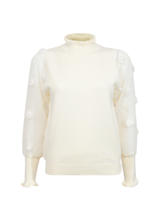 Flower top off white