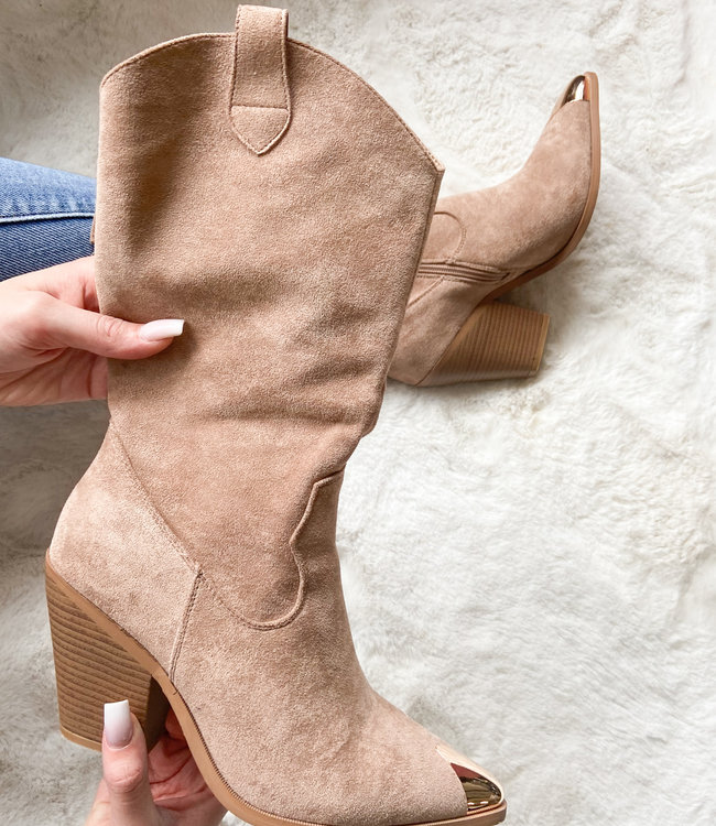 Flair boots beige