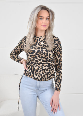 Mosey top leopard