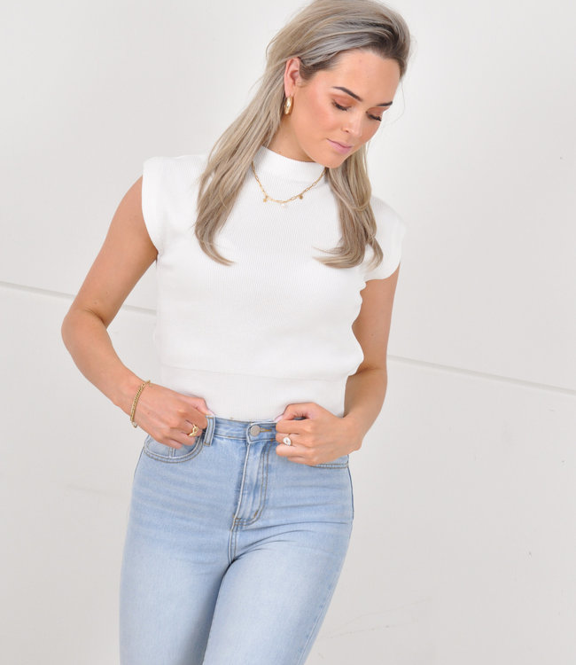 Indy top white