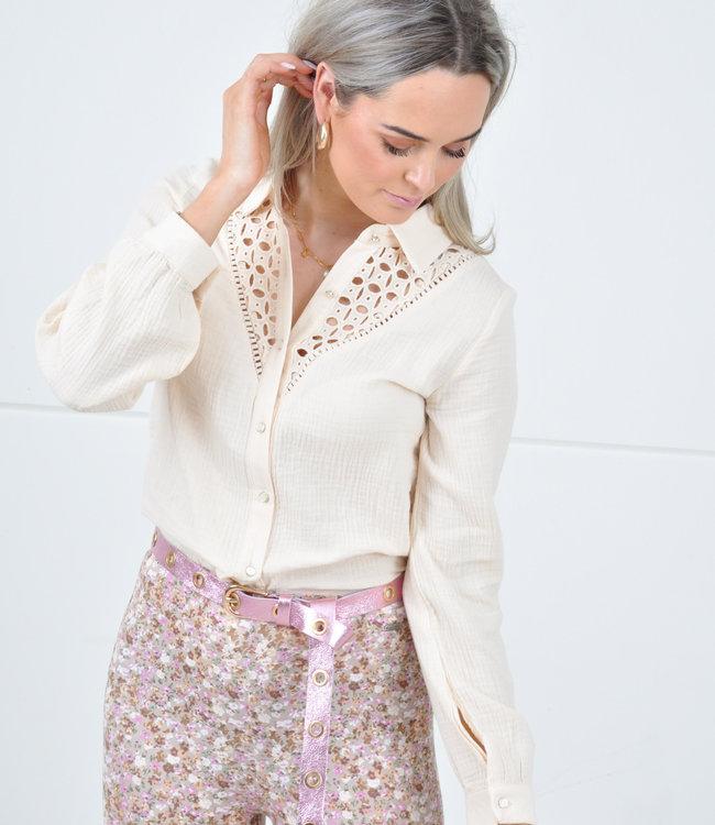 Zara blouse beige