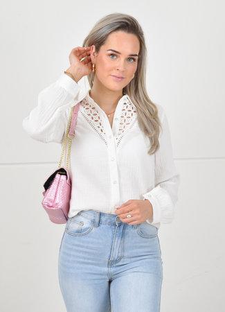 Zara blouse white