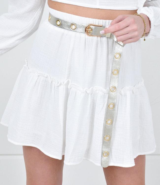 Gina skirt white