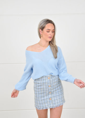 Jodie skirt blue