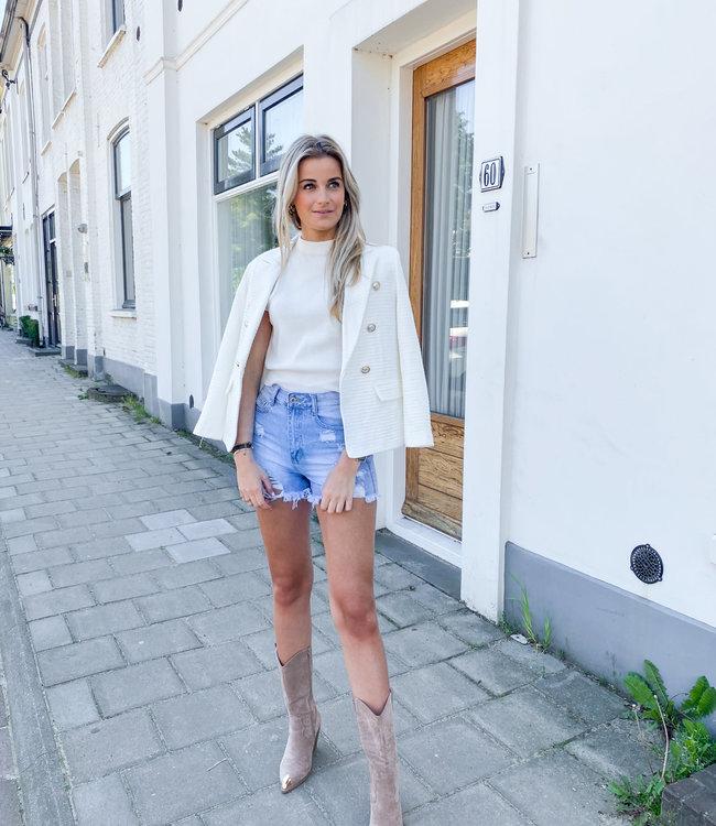 Laura blazer white