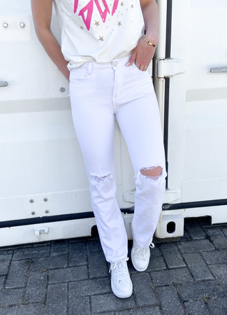 Lucy straight leg jeans white