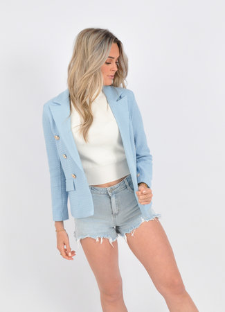 Laura blazer light blue