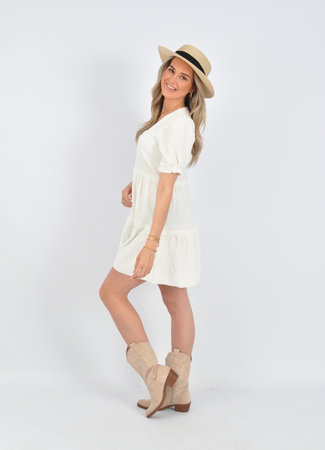 Paulina dress white