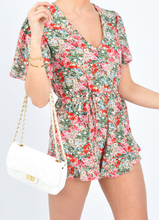 Amber playsuit red