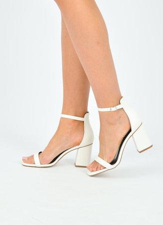 Noa heels white