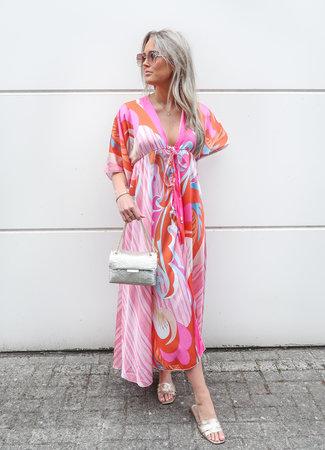 Angel maxi dress pink