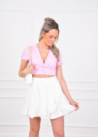 Anouk skirt white