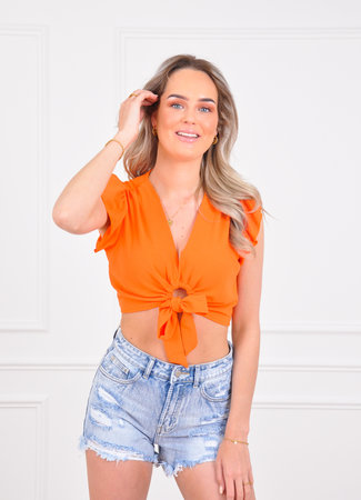 Sarah top orange